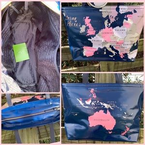 kate spade Bags - Kate Spade Going Places Map Tote Coin Purse Bag